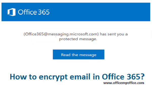 encrypt email in Office 365