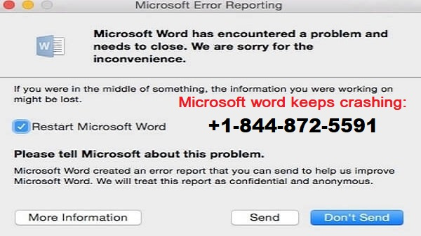 Microsoft Word keeps crashing