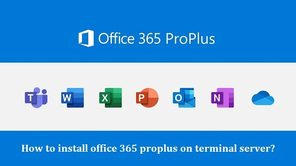 install office 365 on terminal server