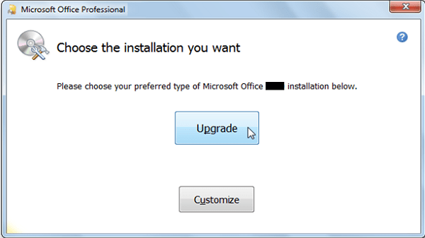 upgrade Microsoft office 2007 to 2016